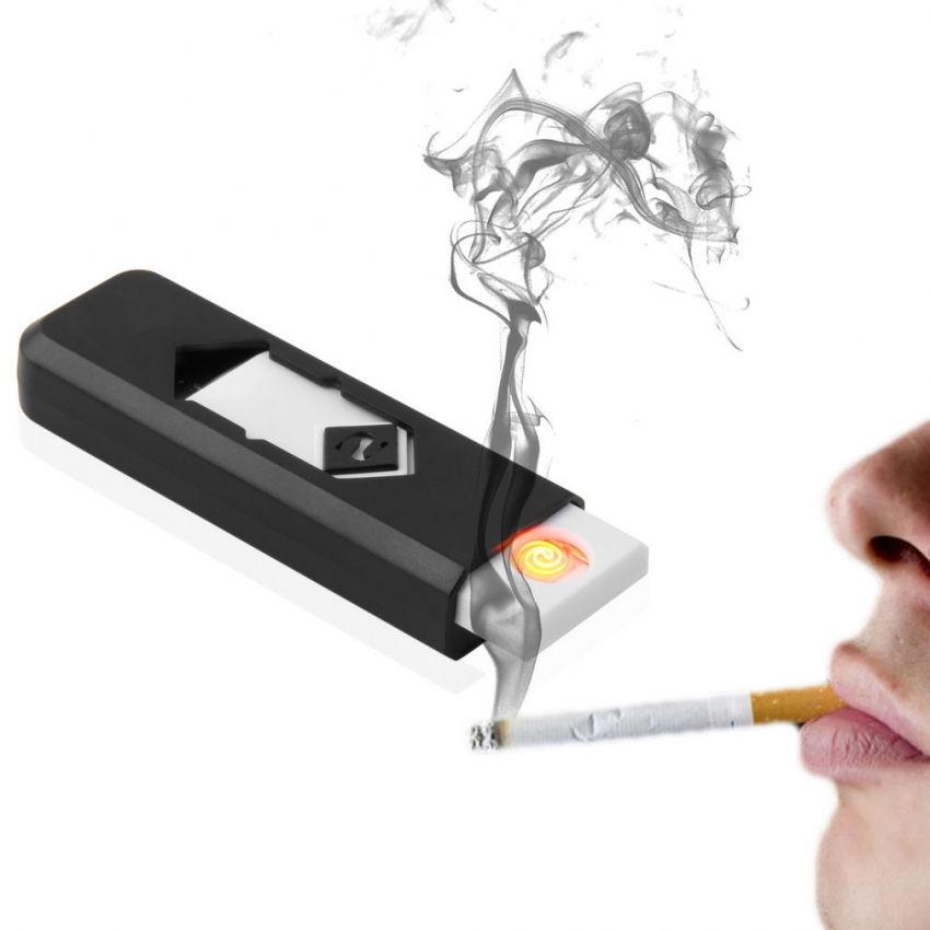 USB Electronic Rechargeable Battery Flame Less Cigarette Lighter