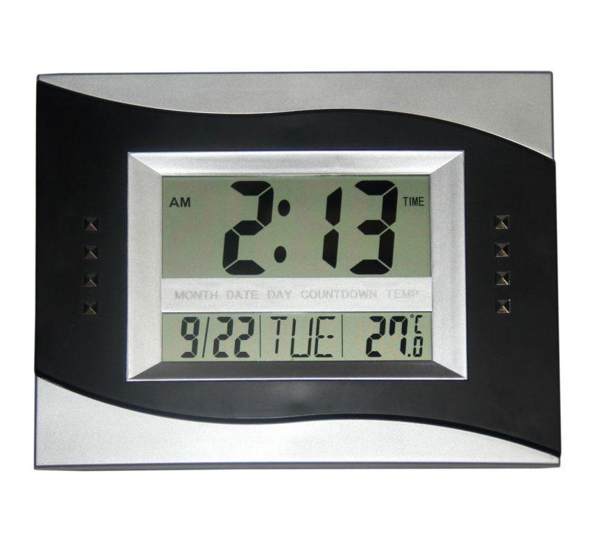 Rectangular Digital Wall Clock Large