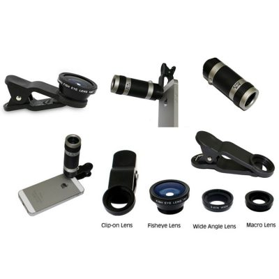4 In 1 Universal Clip with 8X Telescope Lens
