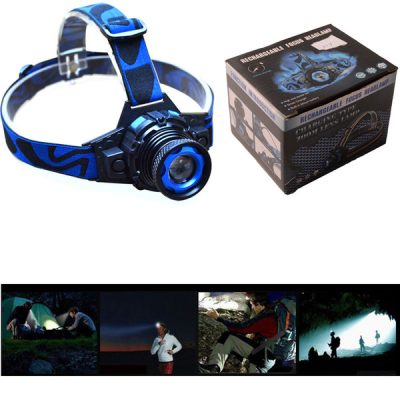 Rechargeable Focus Headlamp lighting 3 Modes Zoomable
