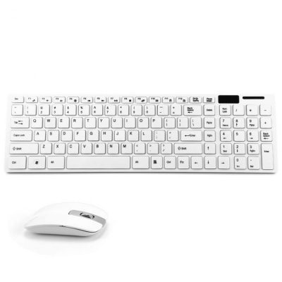 Combo of Slim Wireless Keyboard + Mouse Black with Numeric Pad