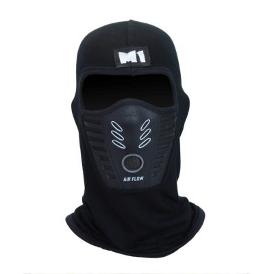M1 Air Flow Filter Full Mask - Black & Grey