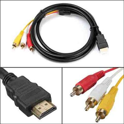 1080P-HDTV-HDMI-Male-to-3-RCA-Audio-Video-AV-Cable-Cord-Adapter-Converter