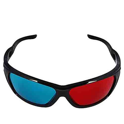 New Universal 3D Plastic Glasses Black Frame Red Blue 3D ...