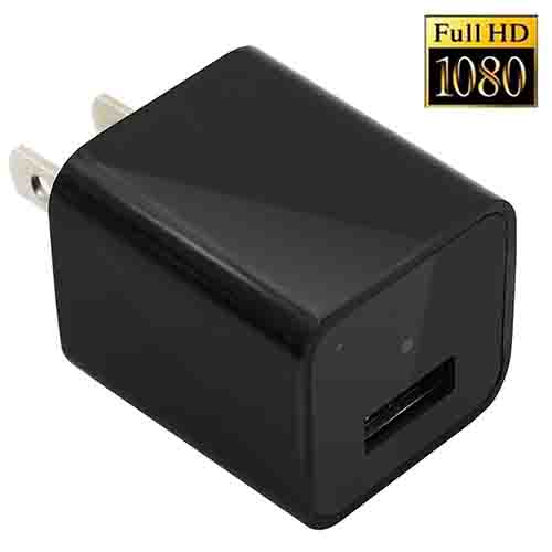 1080P HD USB Wall Charger Hidden Spy Camera With 8gb memory card