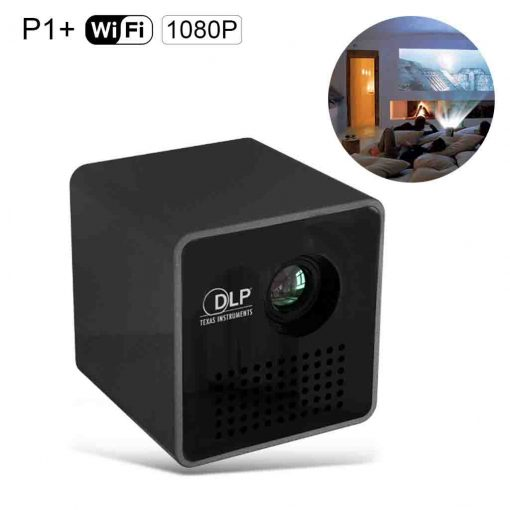 P1 dlp led projector mini wifi projector 1080p support for High resolution mini projector
