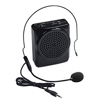 Voice Amplifier Portable Microphone With Waistband For