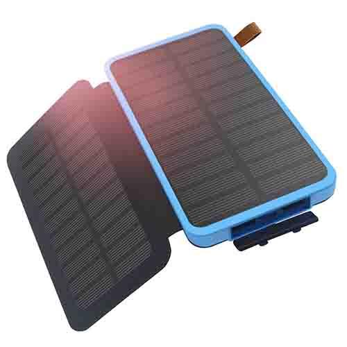 solar power bank double solar panels 8600 mah dual usb. Black Bedroom Furniture Sets. Home Design Ideas