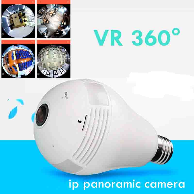 Camera Bulb VR Panoramic Bulb Camera with 360 Degree Fisheye Lens Wireless  Wifi
