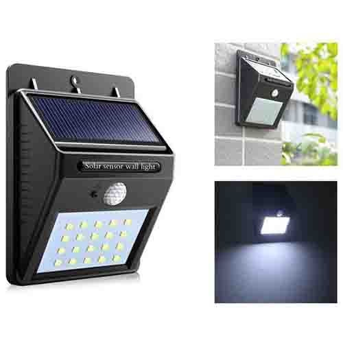 Solar Powered 20 Led Bright Motion Sensor Light Best